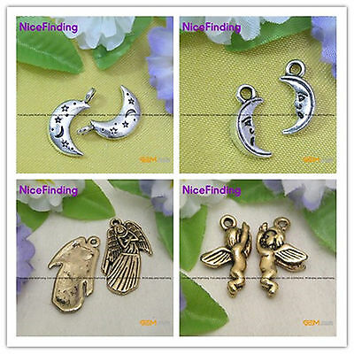 DIY Charms Tibetan Silver Crafts Spacer Jewelry Making Findings Beads