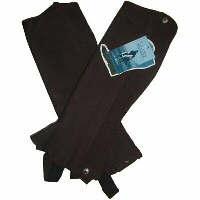 Shires Equestrian Suede Half Chaps Childs Brown