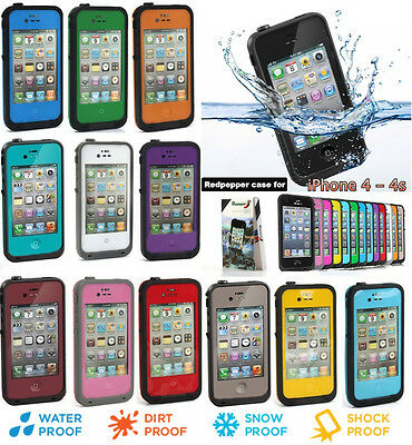 CUSTODIA cover WATERPROOF SUBACQUEA Impermeabile acqua per Apple iPhone 4 4s