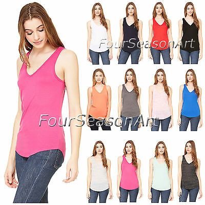 4bf400c2 BELLA + CANVAS - Ladies' Flowy V-Neck Tank Top - 8805 - $10.65 ...