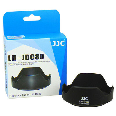 JJC  LH-JDC80 Lens Hood for Canon PowerShot G1 X Mark II replaces Canon LH-DC80