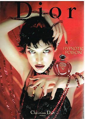 "Publicité Advertising 1999 Parfum ""Hypnotic Poison"" par Christian Dior"
