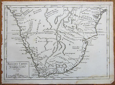 VAUGONDY: Map of South Africa - 1749
