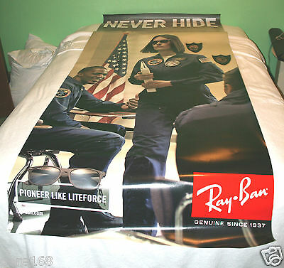 RAYBAN Ray Ban lite force liteforce Sunglasses Air Force LARGE Display Banner AD