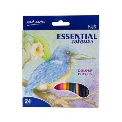 Mont Marte Colour Pencils 24pce - Essential Colours Artist Range MPN0095