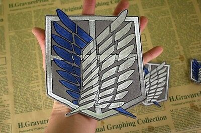 Attack on Titan Cosplay Scouting Legion Recon Corps Badge Patchs Embroidery Big