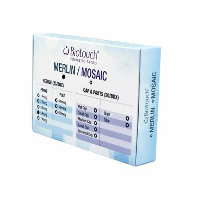 BioTouch 5 Prong Deluxe Merlin Machine ROUND NEEDLES Perm. Makeup Tattoo Ink