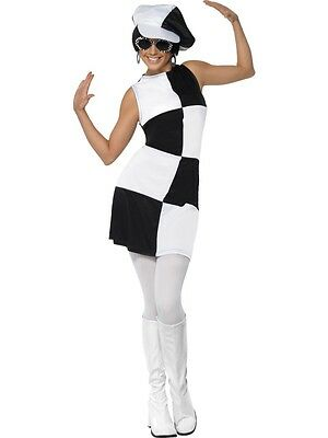 Adult Womens 1960S Party Girl Costume Smiffys Groovy Fancy Dress - Small