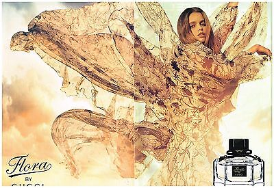 "Publicité Advertising 2009 (2 pages) Parfum ""Flora"" By Gucci"