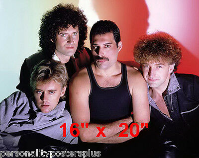"Queen~Freddie Mercury~Group~Brian May~Gay int~Poster~Photo~16"" x  20"""