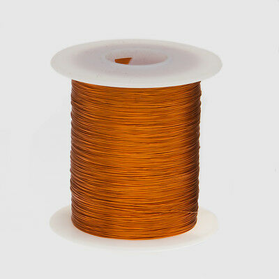 "30 AWG Gauge Enameled Copper Magnet Wire 4oz 783' Length 0.0114"" 200C Natural"