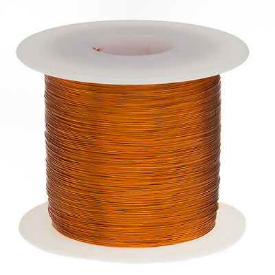 "32 AWG Gauge Enameled Copper Magnet Wire 1.0 lbs 4873' Length 0.0093"" 200C Nat"