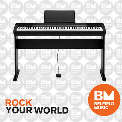 Casio CDP130 Digital Electric Piano Black CDP-130 88 Key with Wooden Stand - BM