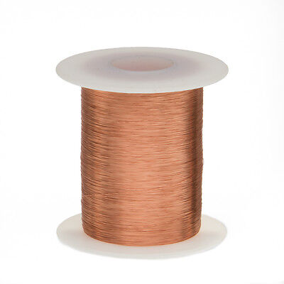 "41 AWG Gauge Enameled Copper Magnet Wire 8oz 20359' Length 0.0030"" 155C Natural"