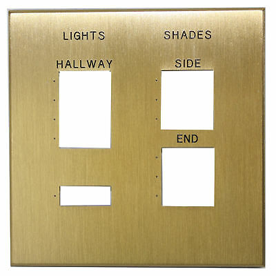 Lutron Nt-5C-C25-Fb-Sb-E Satin Brass Nova T Engraved Multi-Gang Faceplate