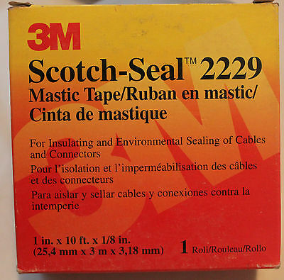 ONE (1) Metre MASTIC TAPE Scotch-Seal 2229 by 3M 25mm wide WATERPROOF INSULATION