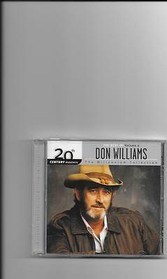 "DON WILLIAMS, CD ""20th CENTURY MASTERS, THE MILLENNIUM COLLECTION, VOL. 2"" NEW"