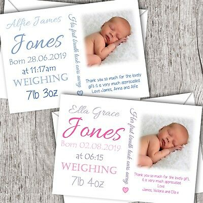 Personalised Photo Invitations ~ Christening ~ Baptism ~ Girl/Boy (Fonts)