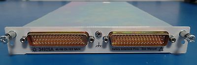 HP Agilent 34925A 40/80 Channel Optically Isolated FET Multiplexer for 34980A