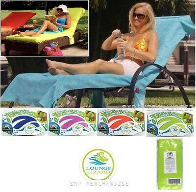 Lounge Chair Quick Dry Covers & Towels by Lounge Lizard - Pool, Beach, Vacation