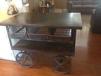 Antique / Industrial cart ..1900.00 or best offer.....