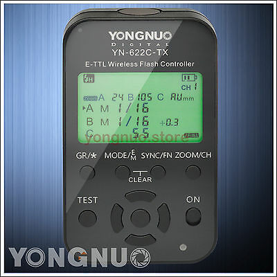 Yongnuo YN-622C-TX Wireless TTL Flash Controller for Canon 400D 60D 50D 40D 20D