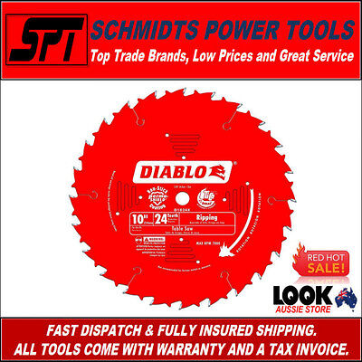 "FREUD D1024X DIABLO 24 TOOTH 10"" 255mm RIPPING TABLE SAW BLADE 24T RIP SAW BLADE"