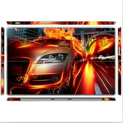T9 Fire Race Decal Sticker Skin Protector For Microsoft Surface Pro 2 Tablet