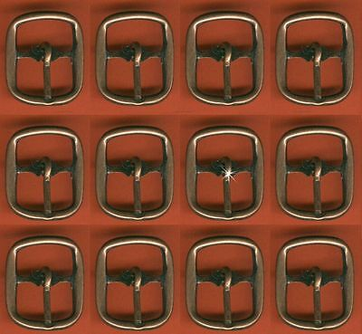 Vintage 12 Antique Copper 20X25MM Rectangle Buckles AR4