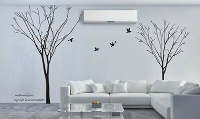 Gemini Tree Branch Removable Wall Art Stickers Mural Vinyl Decal Paper Decor DIY