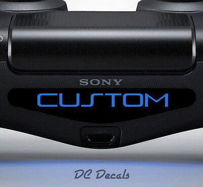 2X Playstation PS4 Controller Light Bar Sticker Decal Custom Personalised Vinyl