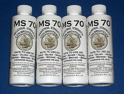FOUR MS70 Coin Cleaner Brightener and Cleaner for Gold Silver Copper Nickel