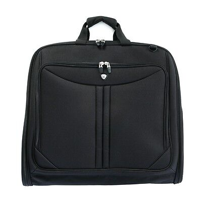 """Olympia 44"""" Deluxe Folding Travel Garment Bag Hanging Luggage Black G-7740"""
