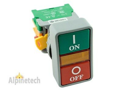 ATI DPB22 22mm ON OFF Double Push Button Momentary Switch 120V LED Light