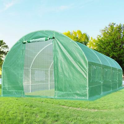 Quictent Heavy Duty Greenhouse Large Green Garden Hot House Walk In 20'x10'x6'