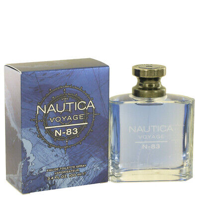 Nautica Voyage N-83 by Nautica 3.4 oz EDT Cologne Spray for Men New in Box