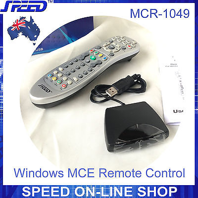 SPEED MCR-1049 Windows Media Centre MCE Remote Control and IR Receiver for HTPC