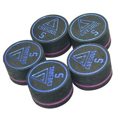 Cuesoul 5pcs/set 14mm 9 Layer Pool Cue Tips For Billiards