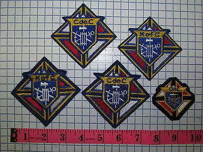 **5 RARE KNIGHTS OF COLUMBUS CHEVALIER DE COLOMB PATCH LOT  ***