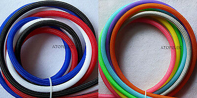 Single Color 2MM~16MM TIGHT Braided PET Expandable Sleeving Cable Wire Sheath