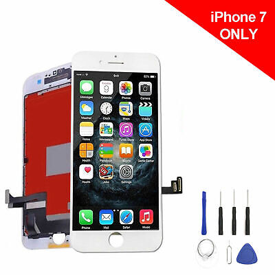 New iPhone 7 LCD Screen Replacement White W/Tool Kit, & Free Shipping From USA
