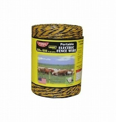 Parker mccrory mfg company 121 656 ft. Heavy Duty Electric Fnce Wire, Yllw/Blk