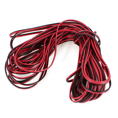 Indoor Outdoor Plastic Insulated Electrical Wire Cable Black Red 20M 65Feet