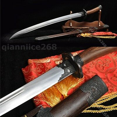 38' SHARP ROOSWOOD CARBON STEEL FULL TANG CHINESE QING SWORD(清刀)
