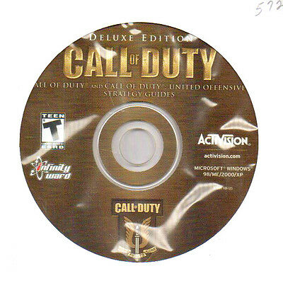 Call of Duty Deluxe Edition PC Computer Shooter Games, 2005 Windows XP 2000 98