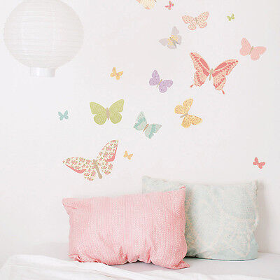 25x Butterfly Wall Stickers Beautiful Art Decal Girls Room Nursery Modern Decor