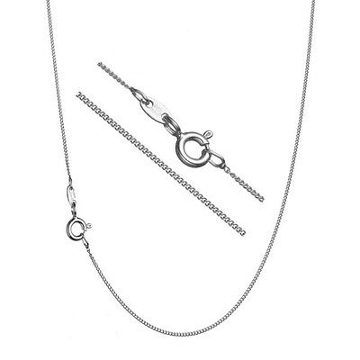 Pure 925 Sterling Silver Super Thin .8mm Italian Curb Chain Necklace ALL SIZES