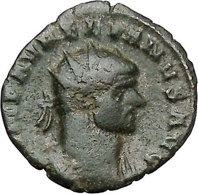 Aurelian receiving globe from Jupiter Ancient Roman Coin Jupiter Cult  i41098