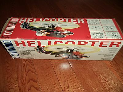 vintage battery-operated COMMANDO  HELICOPTER in box Made IN PHILIPPINES