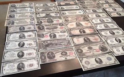 Reproduction Collection 1880-1929 United States Paper Money US Banknotes 40 Diff